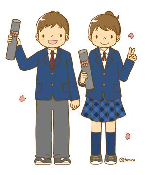 卒業を祝う子供