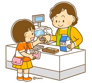 お金を使う子供