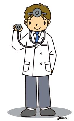 聴診器を持った医師