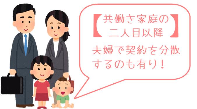 共働き家庭の二人目が生まれた場合の学資保険の契約者