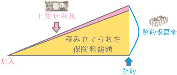 日本円建て保険の解約返戻金の仕組み