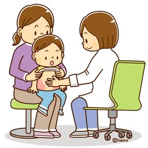 医療保障を使って病院で診察を受ける子供