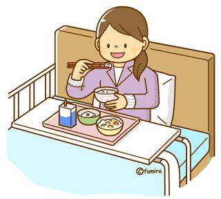 個室入院する女性