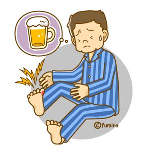 痛風に悩む男性