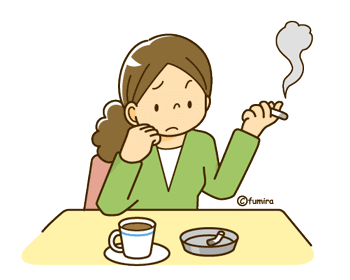 喫煙者の女性