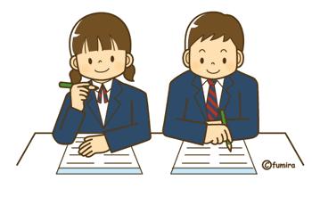 受験勉強をする高校生