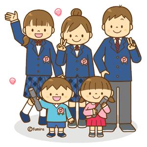 幼稚園児と高校生